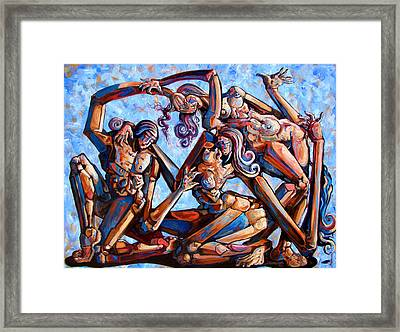 The Seduction Of The Muses Framed Print by Darwin Leon