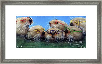 The See Otters... Framed Print
