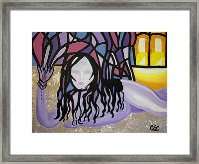 Framed Print featuring the painting The Seed by Carolyn Cable