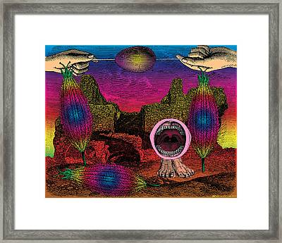 The Seed-pod Song Framed Print by Eric Edelman