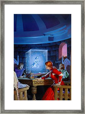 The Seeing Cube Framed Print by Richard Hescox