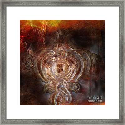 The Seeker's Heart Framed Print by Rebecca Lemke