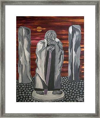 Framed Print featuring the painting The Seer by Carolyn Cable