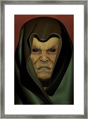 The Seer Portrait Framed Print