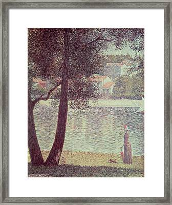 The Seine At Courbevoie Framed Print by Georges Pierre Seurat