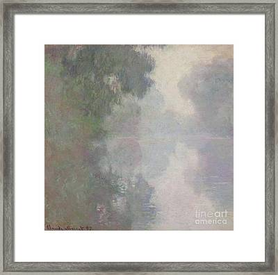 The Seine At Giverny, Morning Mists Framed Print by Claude Monet