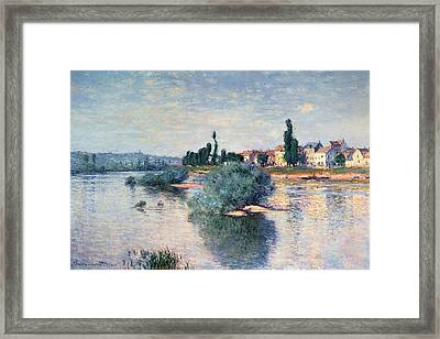 The Seine At Lavacourt Framed Print
