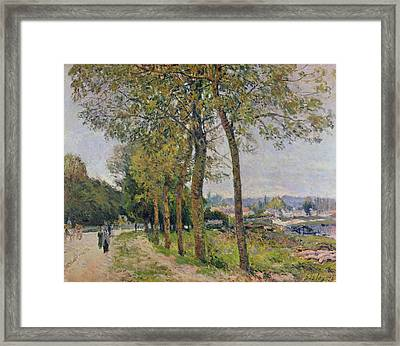 The Seine At Marly Framed Print by Alfred Sisley