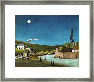 The Seine At Suresnes Framed Print by Henri Rousseau