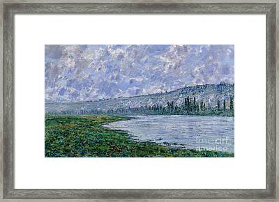 The Seine At Vetheuil, 1880 Framed Print by Claude Monet