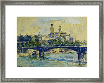 The Seine In Front Of The Trocadero Framed Print by Henri-Edmond Cross