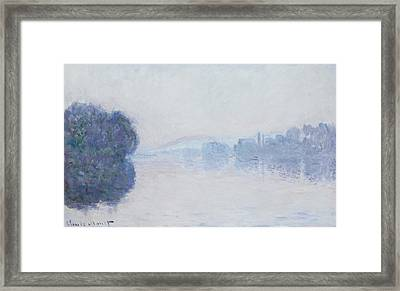 The Seine Near Vernon Framed Print by Claude Monet