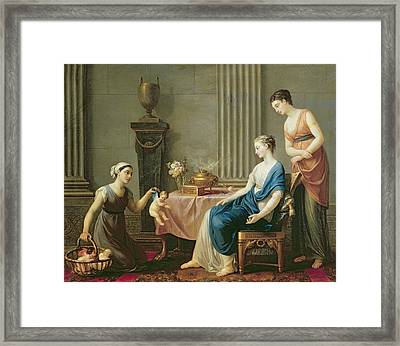 The Seller Of Loves Framed Print by Joseph Marie Vien