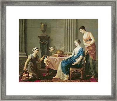 The Seller Of Loves Framed Print by Joseph Marie Vien