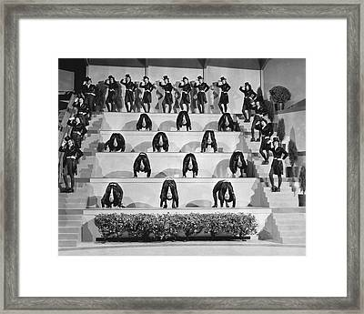 The Sensations Of 1945 Scene Framed Print by Underwood Archives