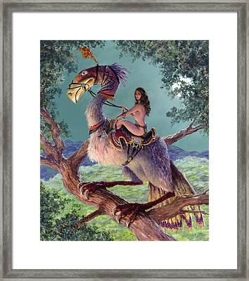 The Sentinel  Framed Print by Richard Hescox