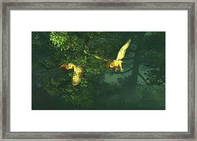 The Sentinels Of Night Framed Print by Dieter Carlton