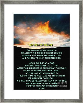 The Serenity Prayer Framed Print by Celestial Images