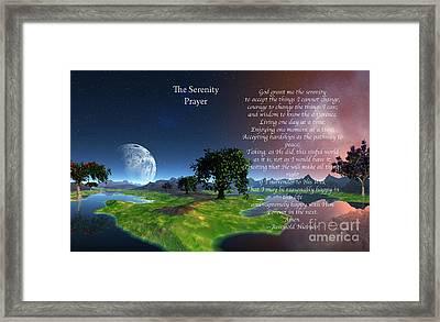 The Serenity Prayer Framed Print by Heinz G Mielke