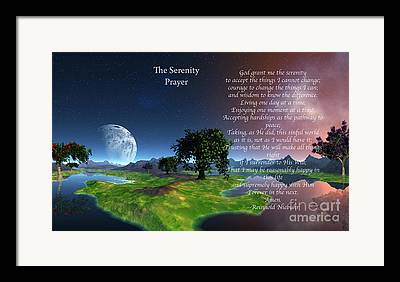 The Serenity Prayer Framed Prints