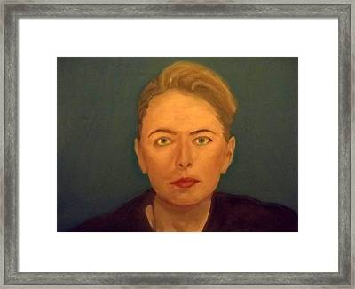 The Serious Lady Framed Print