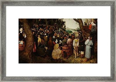 The Sermon Of Saint John The Baptist Framed Print by Pieter Bruegel the Elder