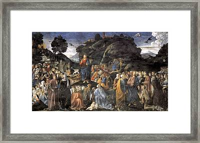 The Sermon On The Mount Framed Print by Cosimo Rosselli