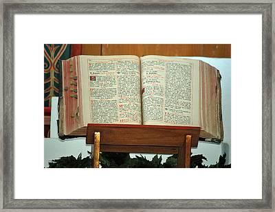 The Sermon Framed Print by Teresa Blanton