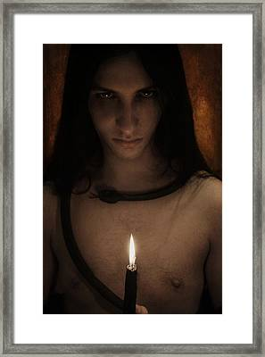 The Serpent King Framed Print by Art of Invi