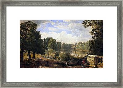 The Serpentine Framed Print by Jasper Francis Cropsey