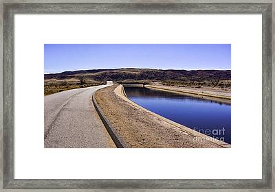 The Service Road Framed Print