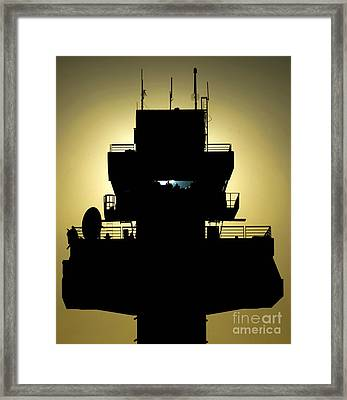 The Setting Sun Silhouettes An Air Framed Print