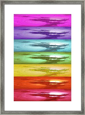 The Seven Chakras Framed Print by Adriana Zoon