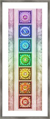 The Seven Chakras - Series 1 Artwork 2.1 Framed Print