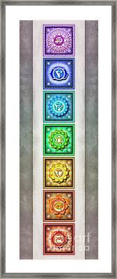 The Seven Chakras - Series 1 Artwork 2.2 Framed Print