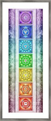The Seven Chakras - Series 2 Artwork 2.1 Framed Print