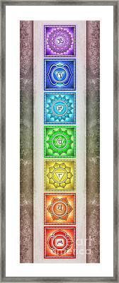 The Seven Chakras - Series 2 Artwork 2.2 Framed Print