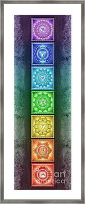 The Seven Chakras - Series 2 Artwork 2.3 Framed Print