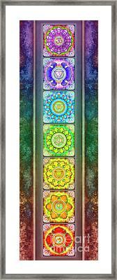 The Seven Chakras - Series 3 Artwork 2.1 Framed Print