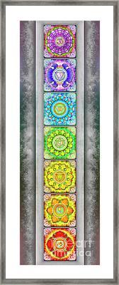 The Seven Chakras - Series 3 Artwork 2.2 Framed Print