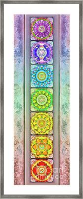 The Seven Chakras - Series 3 Artwork 2.3 Framed Print