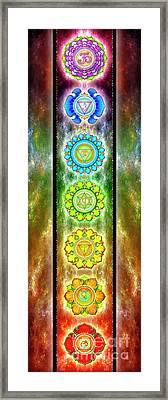 The Seven Chakras - Series 3 Framed Print by Dirk Czarnota