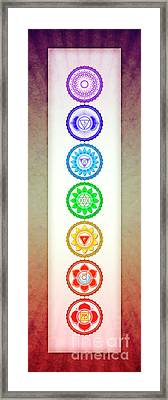 The Seven Chakras - Series 6 Artwork 1 Framed Print by Dirk Czarnota