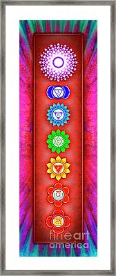The Seven Chakras - Series 6 Artwork 2-1 Framed Print by Dirk Czarnota