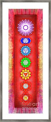 The Seven Chakras - Series 6 Artwork 2-2 Framed Print by Dirk Czarnota