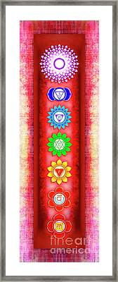 The Seven Chakras - Series 6 Artwork 3 Framed Print by Dirk Czarnota