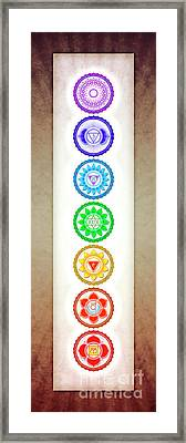 The Seven Chakras - Series 6 Color Variant Warm Brown Framed Print by Dirk Czarnota