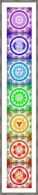 The Seven Chakras - Series 6 Framed Print