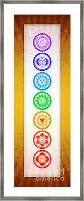 The Seven Chakras - Series 6 Golden Yellow Framed Print by Dirk Czarnota
