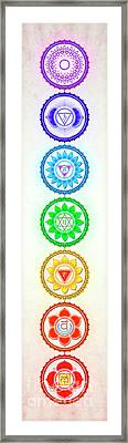 The Seven Chakras - Series 6 Gy.1 Framed Print